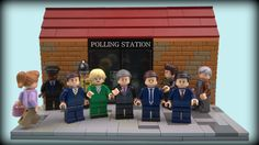 The Custom LEGO Political Party Leaders are all ready for Election Day this May!