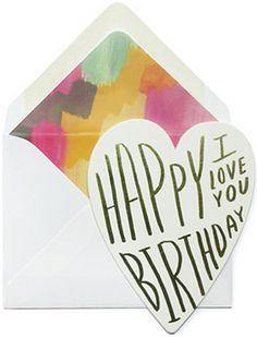Happy Birthday I Love You Card