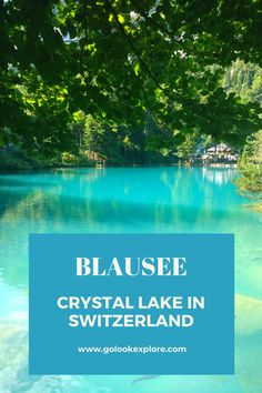 Blausee - crystal clear lake in Switzerland - Go Look Explore Switzerland Vacation, Visit Switzerland, Big Lake, Small Lake, Clear Lake, Destination Voyage, Paragliding, Travel Aesthetic, Vacation Destinations