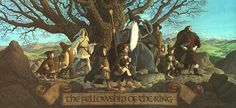 "JRR Tolkien Calendar - 1978 - Illustrations by the brothers Hilderbrandt // ""The Fellowship of the Ring"""