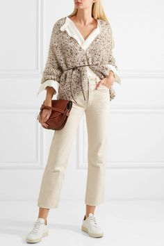 Chunky Knit Cardigan, Oversized Cardigan, Knit Fashion, Minimal Fashion, Brunello Cucinelli, Knitting Designs, Simple Outfits, Trousers Women, Everyday Fashion
