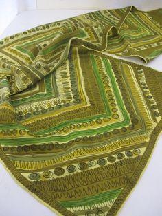 Vera Neumann Scarf Green Silk Mod Scarf by BelindasStyleShop