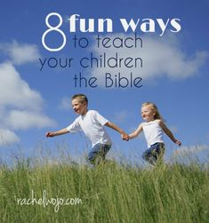 8 fun ways to teach your children the Bible! What do you do at home to help your children learn more about the Bible? BONUS- BRAND NEW children's devotional giveaway- perfect for summer!