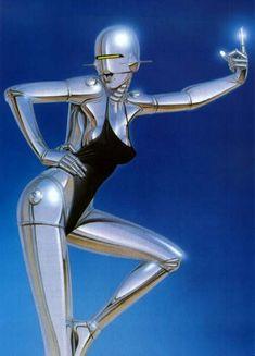 Juxtapoz Magazine - A Necessary Dose of Hajime Sorayama Robot Painting, Cyberpunk Kunst, Science Fiction Kunst, Arte Robot, Robot Girl, Ex Machina, Airbrush Art, Sci Fi Art, Photoshop