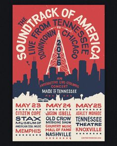 Soundtrack of America Poster by Jon Contino
