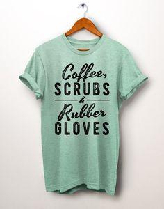 Gift For Nurse. Registered nurse by PartyBrew on Etsy Scrubs Outfit, Scrubs Uniform, Fashion Models, Dental Shirts, Cute Scrubs, Alana Blanchard, Fashion Looks, Scrub Life, Monogram Shirts