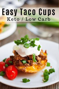 Keto Low Carb Taco Cups are going to become one of your all time favorite meals! Kids love the delicious flavor of the taco seasonings! This is a perfect low carb meal for your keto meal plan. Grab a few ingredients and whip these up for dinner tonight! Low Carb Keto, Low Carb Recipes, Diet Recipes, Healthy Recipes, Recipes Dinner, Soup Recipes, Keto Foods, Keto Snacks, Free Keto Meal Plan