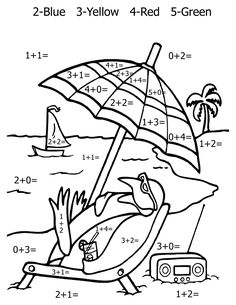 Math may be complicated for some children. It's helpful to use the aid of math coloring pages and worksheets. Here we have all kinds, addition, subtraction, multiplications, and some general numbers for the younger children. Help your kids or your classroom learn math through coloring! Math Coloring Pages