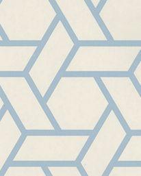Tapet 51237: Treillis Bleu fra Manuel Canovas - Tapetorama