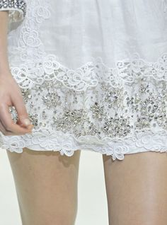 Dolce Spring 2011 ~  Rhinestones and Lace, perfect pairing