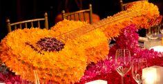 Guitar flowers center piece by  Preston Bailey's Summer Inspiration | PrestonBailey.com