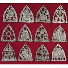 12 Piece Set 08-30635S Patience Brewster Mini 12 Days of Christmas Ornaments