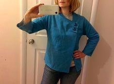 Big old sweatshirt to cute little jacket.  Модная одежда и дизайн интерьера своими руками
