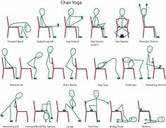 Explains Chair Yoga