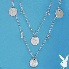 Purchase Playboy Necklace Bunny Medallion Charms Swarovski Crystals Long Wrap Around from Playboy Jewelry at Karen's Treasures on OpenSky. Charms Swarovski, Swarovski Crystals, Valentines Day Gifts For Her, Playboy Bunny, Christmas Earrings, Belly Rings, Silver Necklaces, Silver Earrings, Silver Jewelry
