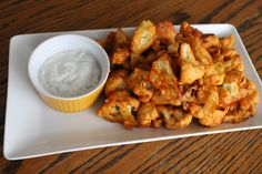 Buffalo Cauliflower Wings with Ranch Sauce