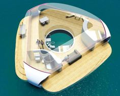 BMT Asia Pacific is seeking commission to build Seascape: standalone villas that float pontoon-style on the sea, complete with an underwater bedroom. Underwater Bedroom, Villa Marina, Sleep With The Fishes, Floating Architecture, Boat Bed, Floating House, Floating Cities, Floating Dock, Floating Island