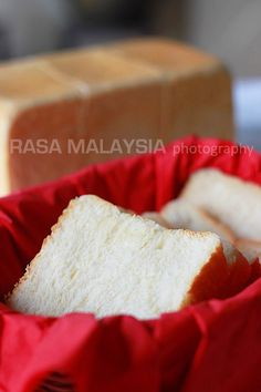 Japanese sweet milk loaf or Hokkaido milk loaf. The best bread ever, cotton soft, sweet, and you don't need anything on the bread, it's THAT good   rasamalaysia.com