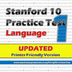Stanford 10 practice test in LANGUAGE for first grade is now available to help you prepare your students for their Stanford 10 tests in spring. Hurry, grab your copy today while it's on sale. Good luck!