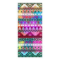 Pink Purple Bright Andes Abstract Aztec Pattern Customized Rack Card
