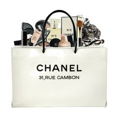 Premade Chanel Shopping Bag ❤ liked on Polyvore featuring bags, chanel, fillers, backgrounds and accessories