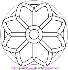 Free Stained Glass Pattern:Church Rose ~ painting on glass Free Mosaic Patterns, Stained Glass Patterns Free, Stained Glass Designs, Stained Glass Projects, Stained Glass Rose, Stained Glass Windows, Mosaic Art, Mosaic Glass, Colouring Pages