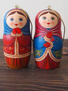 Handmade Christmas Decoration tree ornaments. Russian