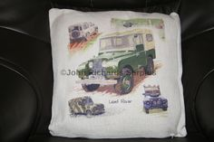 Land Rover Cotton Weave Cushion, Great gift idea for the Land Rover lover