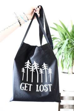 Get Lost canvas tote