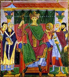 """Otto III. regierte von 983 bis 1002. sehr gebildet; es trug ihm """"Mirabilia Mundi"""" (Wunder der Welt) ein.16 jährig (996) durch Papst Gregor V. zum Kaiser gekrönt,starb mit 22 auf dem Kastell Paterno in Italien. Sein Leichnam wurde nach Deutschland überfürt und in Aachen in der Kapelle von Karl dem Großen beigesetzt. Von Otto III. ist lediglich eine Tieler Münze bekannt und zwar aus seiner Königszeit."""