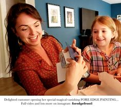 HARRY POTTER Happy clients opening her Fore edge Painting Painting Edges, Harry Potter, Happy, Women, Fashion, Moda, Fashion Styles, Ser Feliz, Happiness