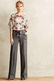 Anthropologie - Winterstar Blouse  This whole outfit is everything.
