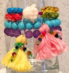 #pulseras #colores #vida #fasna #beatiful #moda #jewerly #accesories #desig #borla #pompom #buda #budha
