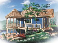 Vacation Home or Primary Residence - 21183DR   Architectural Designs - House Plans