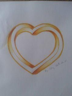 Impressive golden heart