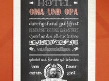 "Kunstdruck ""Hotel Oma & Opa"""