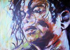 Michael Jackson( Humanity) -Acryl auf Leinwand 80 x 100 cm