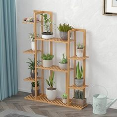 Tall Plant Stands, Wooden Plant Stands, Stand Tall, Tiered Outdoor Plant Stand, Corner Plant, Corner Garden, Garden Shelves, Indoor Plant Shelves, Outdoor Gardens