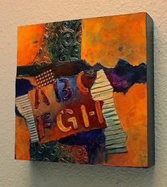 """Mixed Media Abstract Painting """"ABC FGH"""" by Colorado Mixed Media Abstract Artist Carol Nelson-http://carolnelsonfineart.com/workszoom/1475374"""