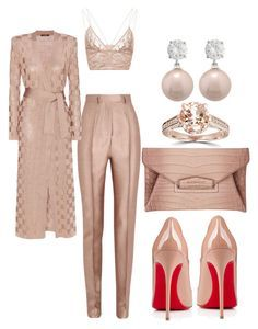 """Untitled #275"" by scannedbyaaron ❤ liked on Polyvore featuring Christian Louboutin, Haider Ackermann, Jonathan Simkhai, Givenchy, Balmain and Bliss Diamond"