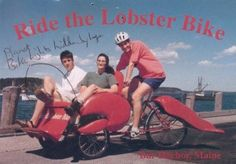 Ride the lobster bike! Need a ride in a pinch? It's time to haul some tail! Bike Humor, The Shanty, Crab Shack, E Vent, Lobsters, Bicycle Accessories, Maine, Blog, Hummer