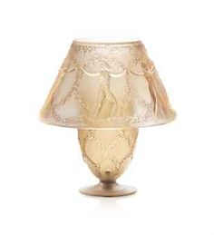 SIX DANSEUSES TABLE LAMP, NO. 2179  designed 1931, clear, frosted and sepia stained stencilled R. LALIQUE FRANCE 26 cm. high