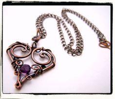 Purple+Filigree+Heart+Pendant