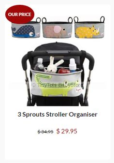 3 Sprouts Stroller Organiser.Check our special price..#sale #save #pramorgaiser