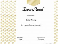 Best performance award certificate at word documents dance best performance award certificate at word documents dance pinterest certificate yelopaper Gallery