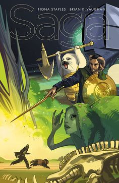 """"""" SAGA #25 STORY: BRIAN K. VAUGHAN ART / COVER: FIONA STAPLES FEBRUARY 4 / 32 PAGES / FC / M / $2.99 Saga is back, as is almost the entire cast! And as thanks to retailers and readers for helping our..."""