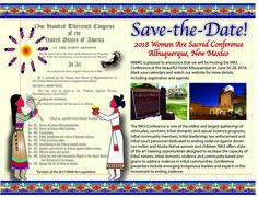 """SAVE THE DATE: @niwrc 2018 """"Women Are Sacred"""" conference June 26-28, 2018 in Albuquerque, NM!"""