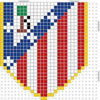 HamaBeads escudo Club Atlético de Madrid
