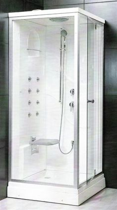 1000 images about showers on pinterest shower kits for Fully enclosed shower