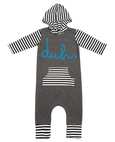 Rags to Raches Duh Hooded Baby Romper in Charcoal with Black and White Stripes – Roman & Leo Toddler Boy Fashion, Little Boy Fashion, Kids Fashion, Rags To Raches, Shop Rags, Baby Swaddle Blankets, Baby List, Big Kids, Hoods